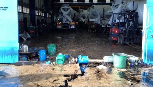 הצפה במפעל