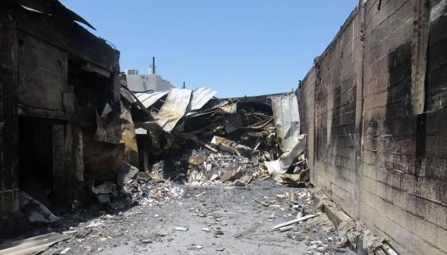 נזקים-כתוצאה-משריפה-במבנה