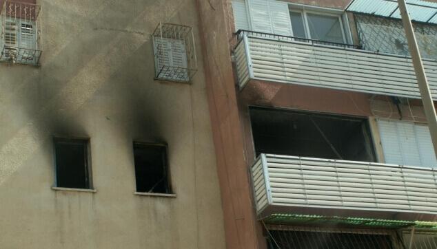 נזקי אש בבניין מגורים
