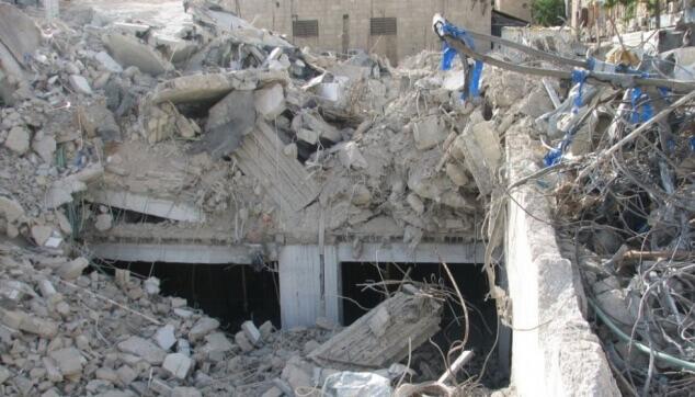קריסה והרס באתר בניה
