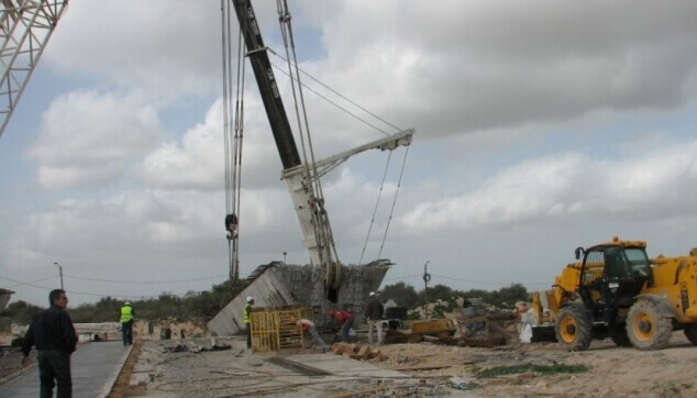 קריסת מבנה באתר בנייה