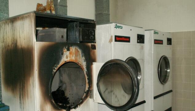 שריפה במכבסה